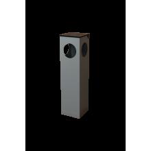 Coş de gunoi cu scrumieră УП-1 din metal, negru