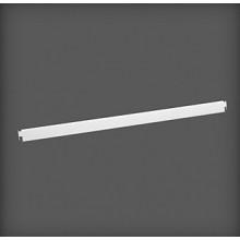 Bară de fixare metalică pentru poliță 607x9x31 mm, alb