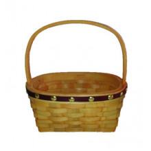 Coș oval din așchii de lemn 190x140x90/180 mm