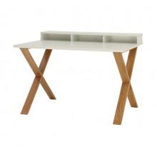 Comodă din lemn cu suprafaţa albă şi picioare din lemn, 1280x840x260 mm