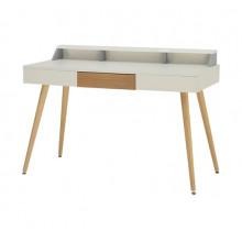 Comodă din lemn cu suprafaţa albă şi picioare din lemn, 1200x 600x105 mm