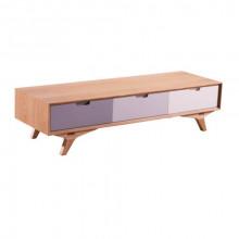 Comodă din lemn cu trei sertare, 1480x530x200 mm