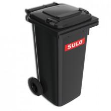 Tomberon din plastic pentru deșeuri, 120L, negru