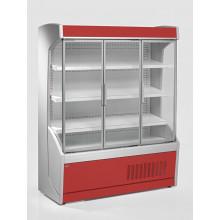 Vitrină frigorifică de perete pentru legume, cu uşi din sticlă R290, cu iluminare, L=1300 mm