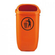 Coş pentru gunoi din plastic 50 l, oranj