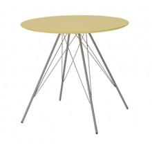 Masă rotundă cu suprafaţă din MDF şi picioare din metal, 880x880 mm