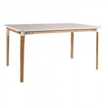 Masă din lemn 1450x900x765 mm, alb