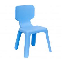Scaun din plastic pentru copii, 420x400x330 mm, albastru